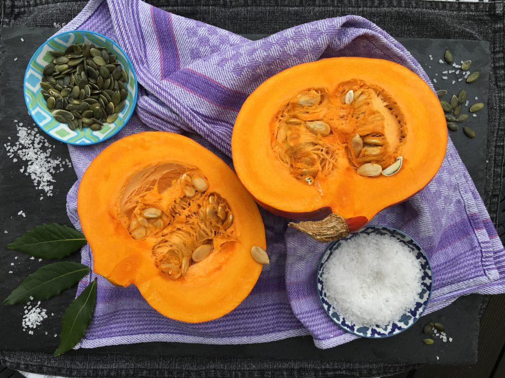 Ayurvedische Hokkaido-Ingwer-Kokos-Suppe