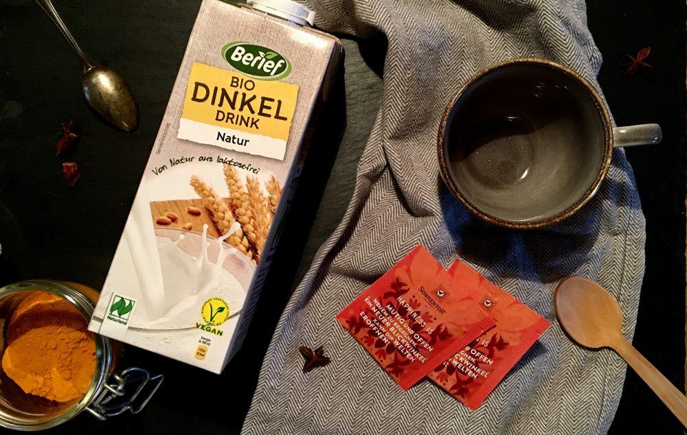 Dinkel-Chai-Latte für Eilige