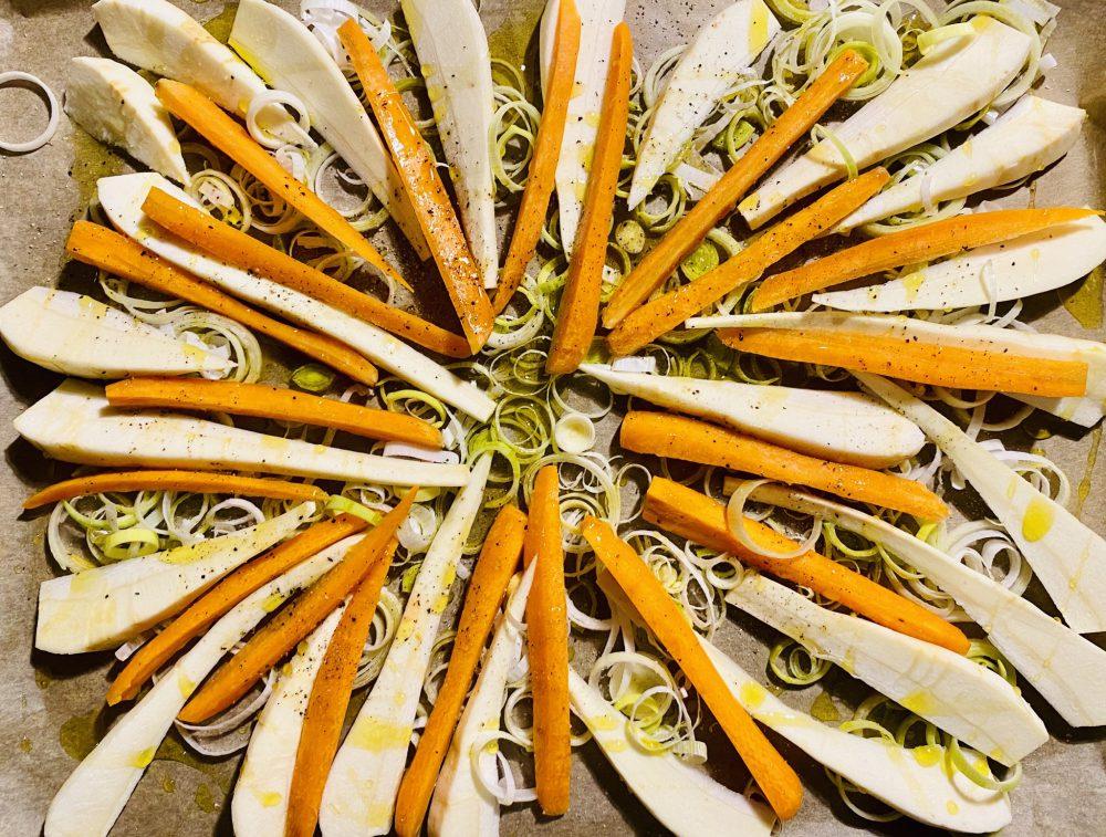 Karotten-Pastinaken-Paprika roh