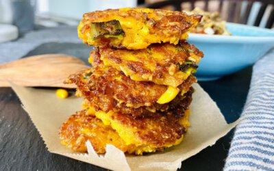 Kürbis-Mais-Plätzli – vegane Buletten für Power und gute Laune