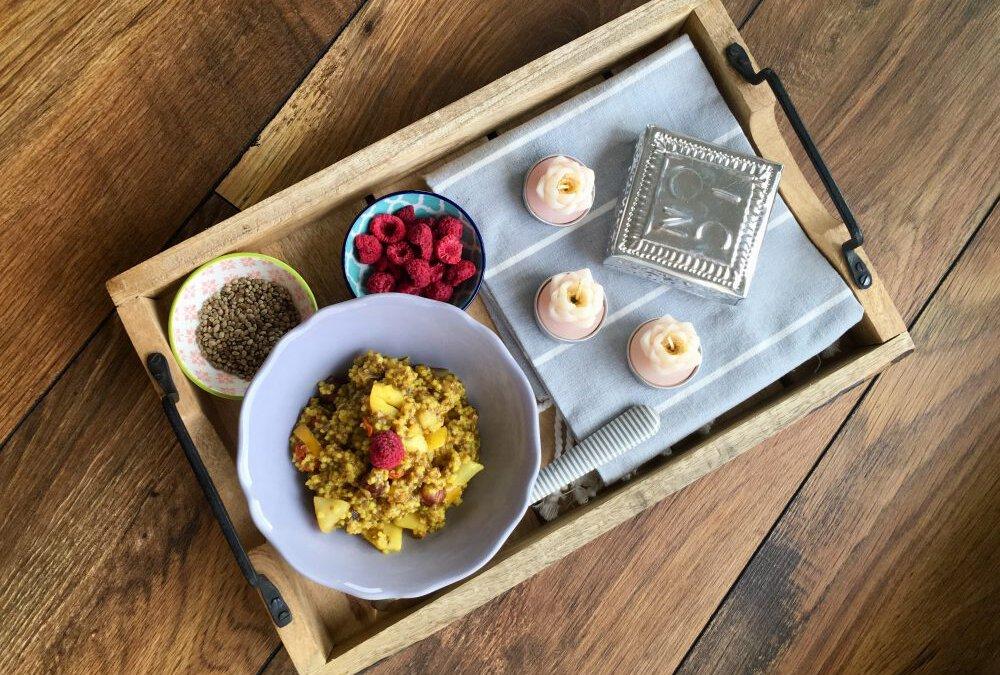 Hirse-Amaranth-Birne – glutenfreier Ayurvedabrei zum Frühstück